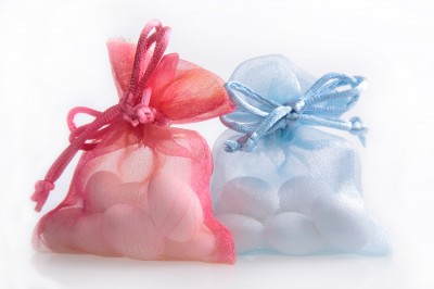 Wedding favours in organza bags