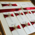 Snowflake and lace wedding seating plan - notonthehighstreet.com