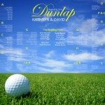 Fore! Golf Themed Wedding Table Plans
