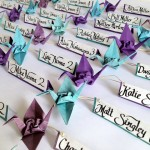 A Thousand Years of Happiness – A Paper Folding Wedding Table Plan