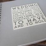 Wedding album memory book - notonthehighstreet.com
