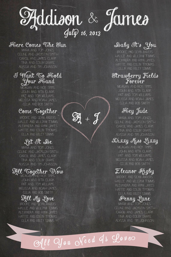 Chalkboard wedding seating plan - etsy.com