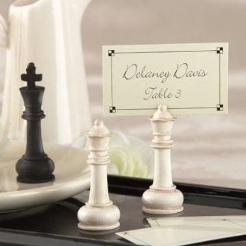 Chess piece place card holder