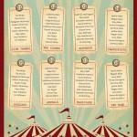 Circus themed wedding seating plan - etsy.com