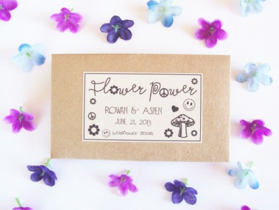 Flower power flower seeds wedding favour - etsy.com