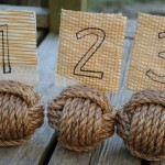 Nautical knot table numbers - etsy.com