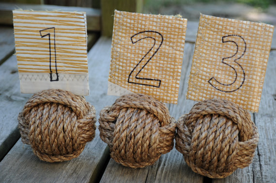 Nautical knot table numbers