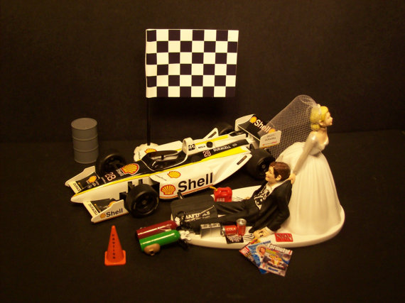 Formula 1 racing car cake topper