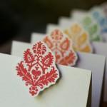 Rainbow escort cards - etsy.com