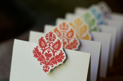 Rainbow escort cards - etsy.com