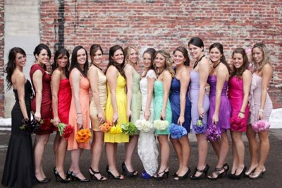 Rainbow wedding dresses