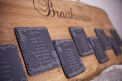 Personalised solid oak table plan - notonthehighstreet.com