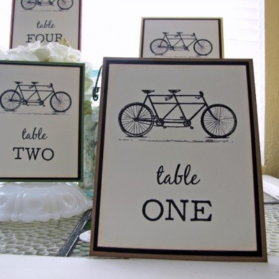 Bicycle Table Numbers - etsy.com