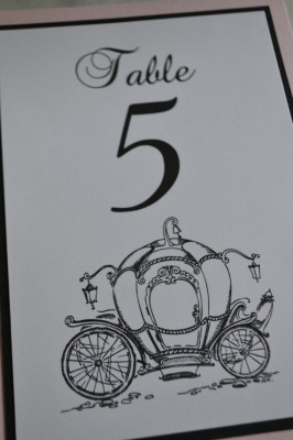 Cinderella Pumpkin Carriage Table Number