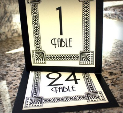 Art Deco Table Numbers - www.etsy.com