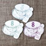 Tea cup table numbers - notonthehighstreet.com