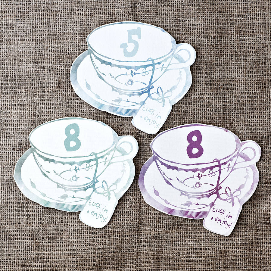 A Tea Party Themed Wedding Seating Plan