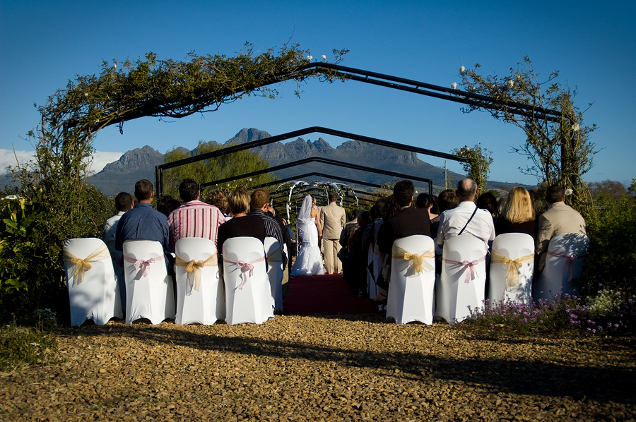 South African outdoor wedding