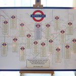 London Underground themed wedding table plan