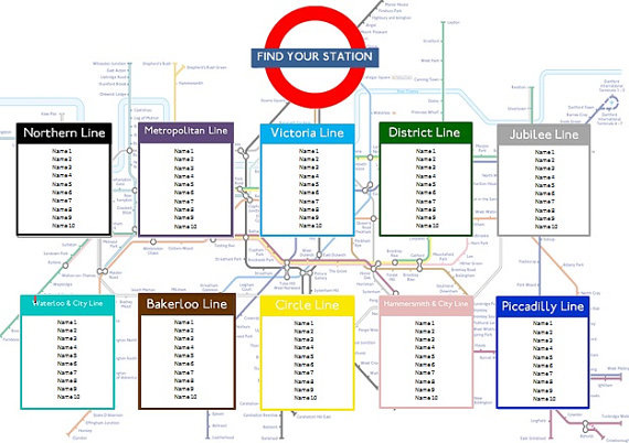 London tube map seating plan