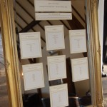 Framed mirror wedding table plan