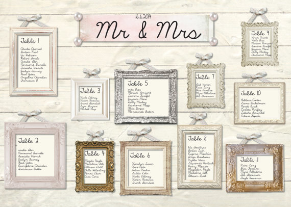 Printable Frame Style Seating Plan