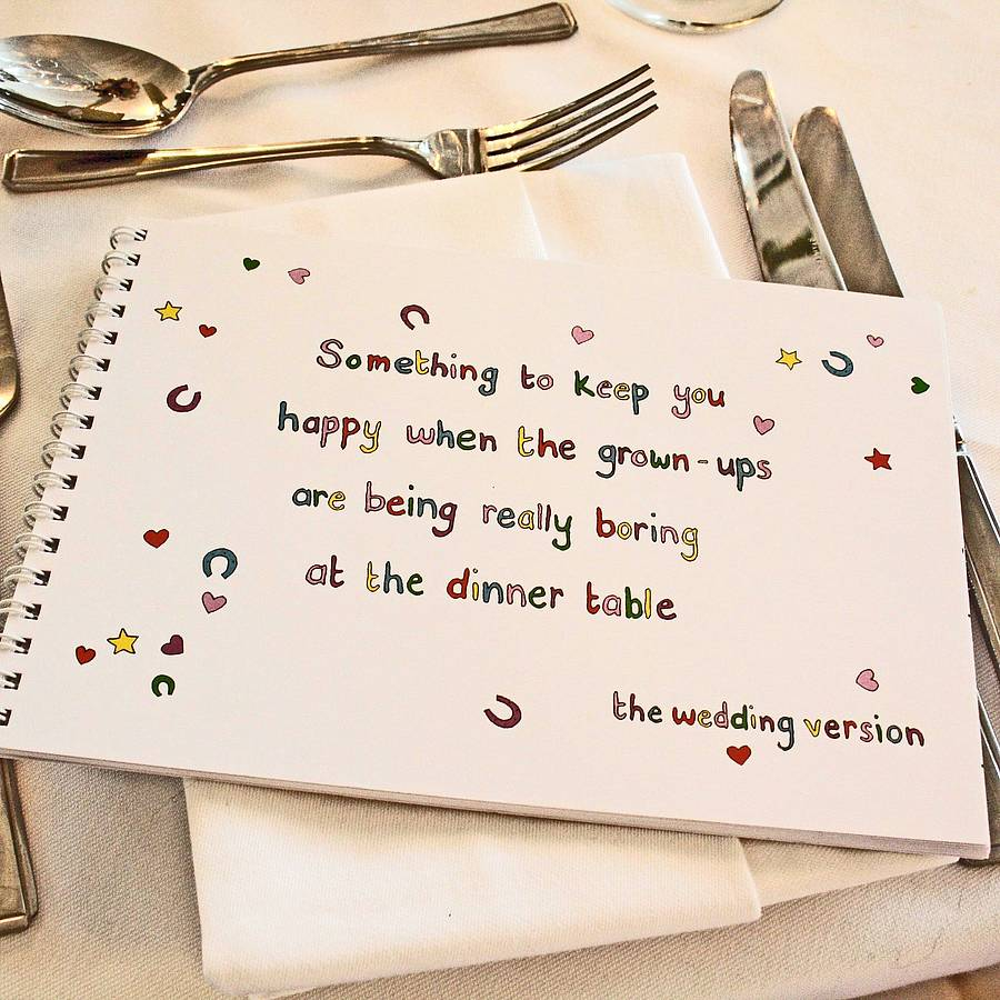 Including Children In Your Wedding Seating Plan
