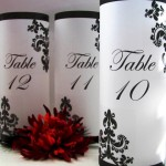 Gothic style table number luminaries - etsy.com