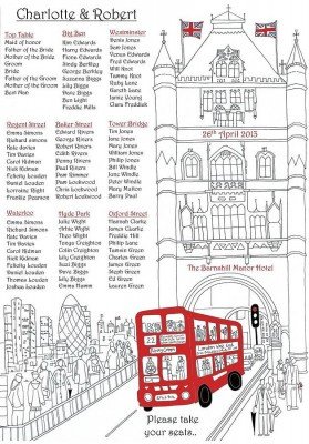 London Wedding Seating Plan - NotOnTheHighStreet.com