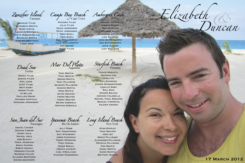 Personalised photo table plan - etsy.com