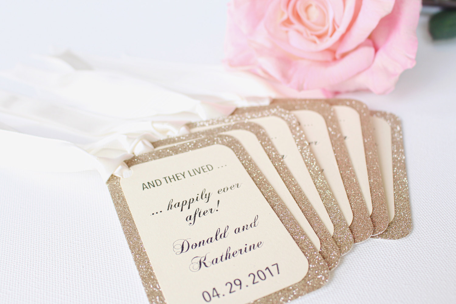 Happily Ever After Wedding Tags