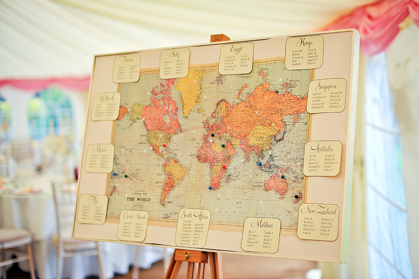 World Map Wedding Seating Plans
