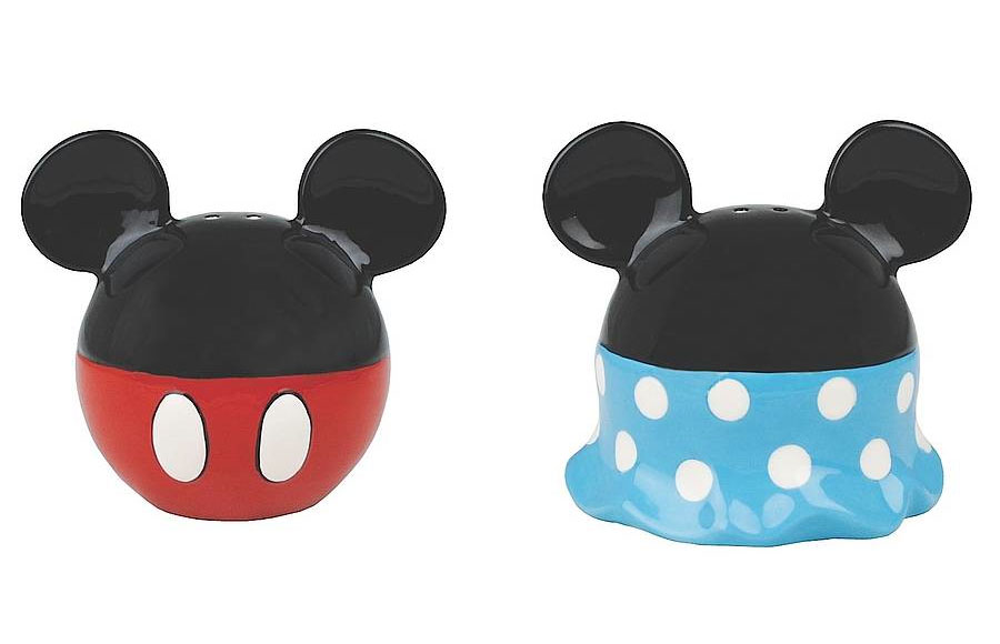 Mickey and Minnie salt and pepper pots