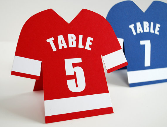Football Shirt Table Number - etsy.com
