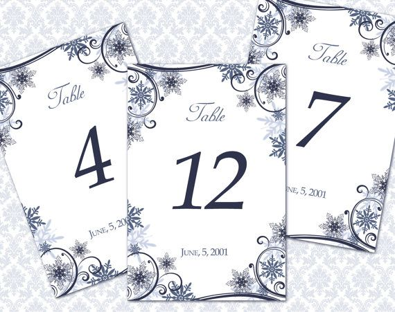 Snowflake table numbers - etsy.com