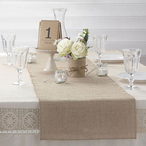 Hessian table runner - confetti.co.uk