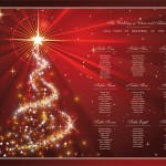 Table Plans for Christmas Weddings