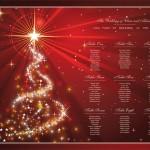 Christmas table plan