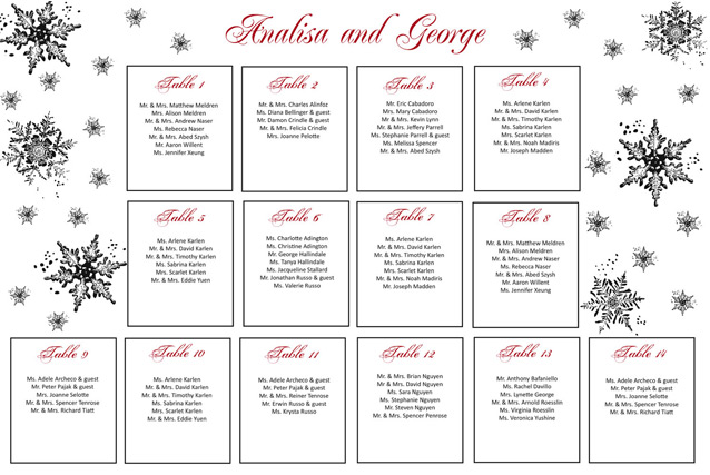 Table plans for christmas weddings for Free online table planner