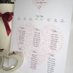 Vintage heart table plan