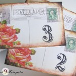 Vintage postcard table numbers - etsy.com