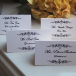 Edwardian themed escort cards