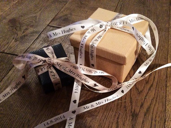 Personalised Wedding Favour Ribbon