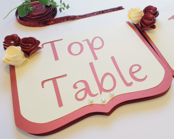 Wedding top table sign
