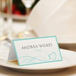 Aquamarine place cards (downloadable Word doc) - etsy.com