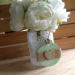 Mint green rustic table number
