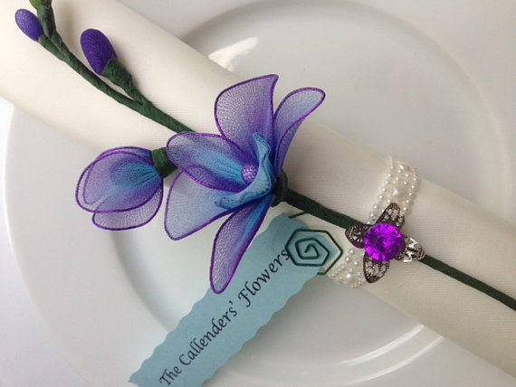 Purple orchid place holder - etsy.com