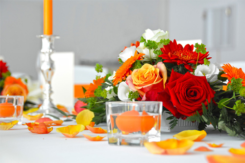 Orange Wedding Colour Scheme
