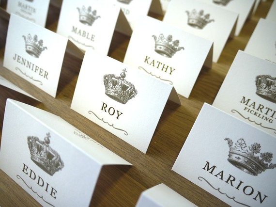 Crown escort cards - etsy.com