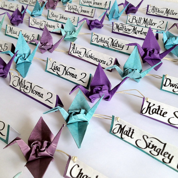 Origami Crane card with simple words (make a big wish) | Origami ... | 570x570